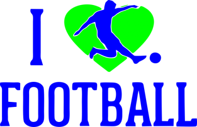 Принт Детская футболка I love football - FatLine