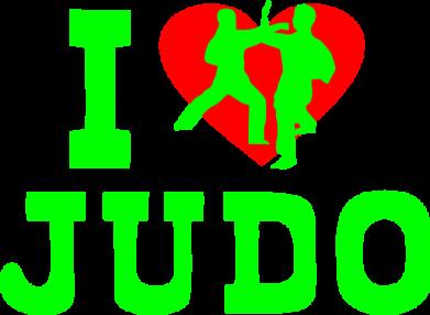 Принт Женская майка I love Judo - FatLine