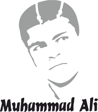 Принт Футболка Поло Muhammad Ali - FatLine