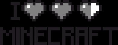 Принт Коврик для мыши Я люблю Minecraft - FatLine
