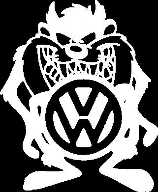 Принт Мужская толстовка на молнии Тасманский дьявол Volkswagen - FatLine