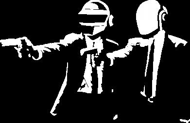 Принт Женская футболка поло Daft Punk group - FatLine