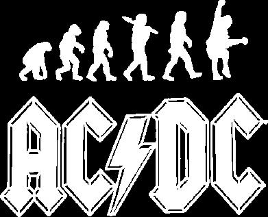 Принт Детская футболка Эволюция AC\DC - FatLine