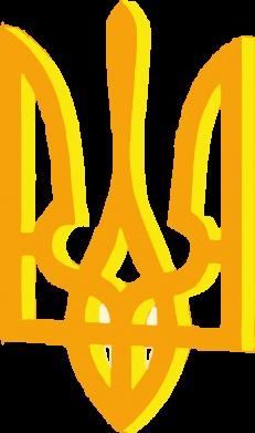 Принт Женская футболка Двокольоровий герб України - FatLine