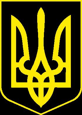 Принт Детская футболка Герб України з рамкою - FatLine