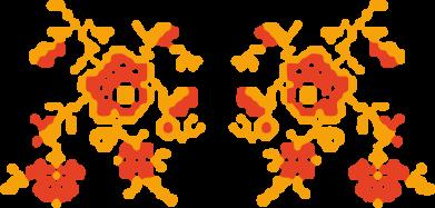 Принт Подушка Квітковий орнамент - FatLine