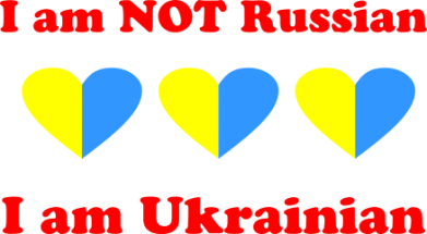 Принт Футболка Поло I am not Russian, a'm Ukrainian - FatLine