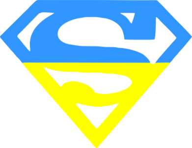 Принт Мужская толстовка на молнии Український Superman - FatLine