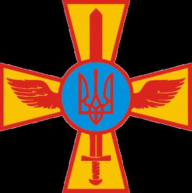 Принт Подушка Крест з мечем та гербом - FatLine