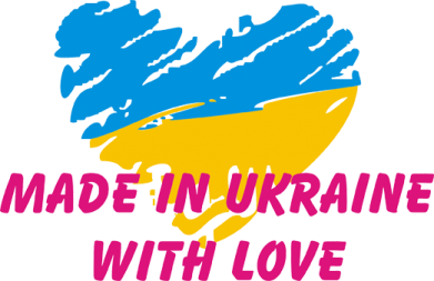 Принт Подушка Made in Ukraine with Love - FatLine