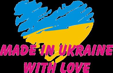 Принт Женская футболка Made in Ukraine with Love - FatLine