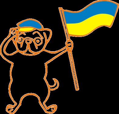 Принт Коврик для мыши Пес з прапором - FatLine