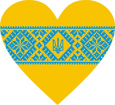 Принт Коврик для мыши Серце України - FatLine