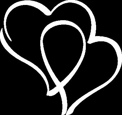 Принт Женская футболка с V-образным вырезом Влюбленные сердца - FatLine
