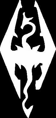 Принт Мужская футболка  с V-образным вырезом Skyrim - FatLine