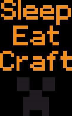 Принт Коврик для мыши Sleep,eat, craft - FatLine