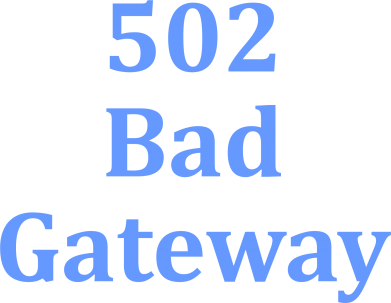 Принт Толстовка 502 Bad Gateway - FatLine