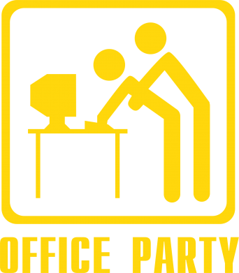 Принт Наклейка Office Party - FatLine