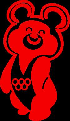 Принт Подушка Олимпийский Мишка - FatLine