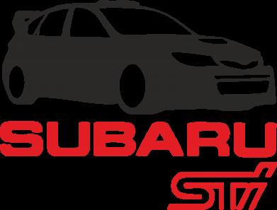 Принт Коврик для мыши Subaru STI - FatLine
