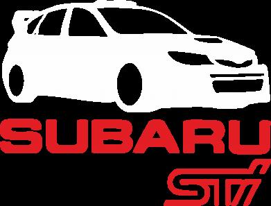 Принт Мужская толстовка на молнии Subaru STI - FatLine