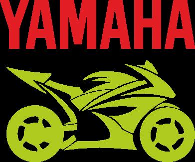 Принт Футболка Поло Yamaha Bike - FatLine