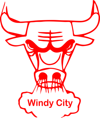 Принт Футболка Поло Chicago Bulls Windy City - FatLine