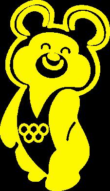 Принт Футболка Поло Олимпийский Мишка - FatLine
