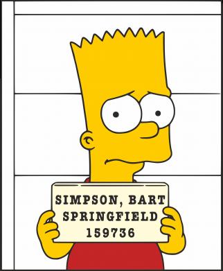 Принт Мужская толстовка на молнии Барт в тюряге - FatLine