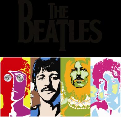 Принт Сумка The Beatles Logo - FatLine