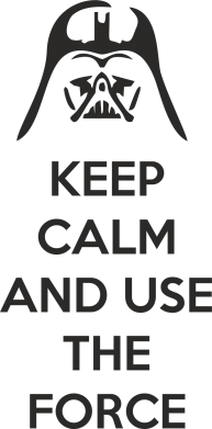 Принт Фартук Keep Calm and use the Force - FatLine