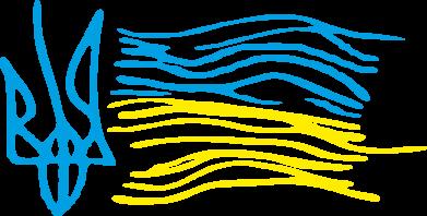 Принт Мужские трусы Детский рисунок флаг Украины - FatLine