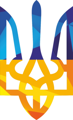 Принт Женская футболка с V-образным вырезом Герб из ломанных линий - FatLine