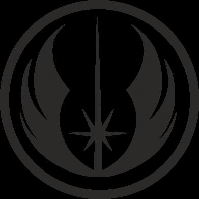 Принт Женская футболка с V-образным вырезом Jedi Order - FatLine