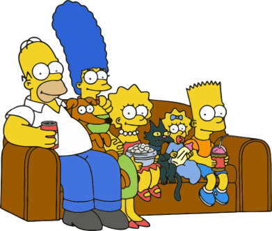 Принт Коврик для мыши Семейство Симпсонов - FatLine
