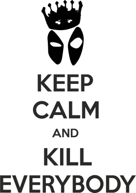 Принт Подушка KEEP CALM and KILL EVERYBODY - FatLine