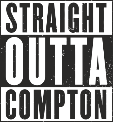 Принт Подушка Straight outta compton - FatLine