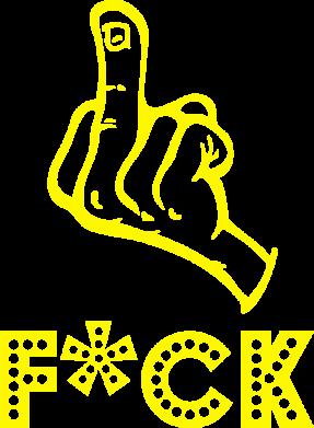 Принт Футболка с длинным рукавом Средний палец - FatLine