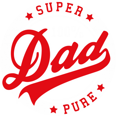 Принт Футболка Поло Super Dad Pure 100% - FatLine