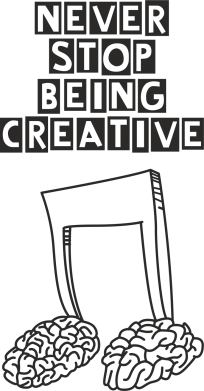 Принт Фартук Never stop being creative - FatLine