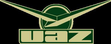 Принт Мужская футболка  с V-образным вырезом UAZ Лого - FatLine