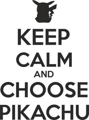 Принт Мужская майка Keep Calm and Choose Pikachu - FatLine