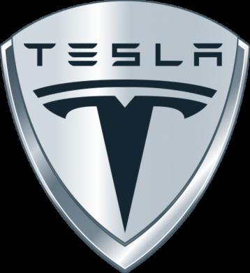 Принт Женская футболка с V-образным вырезом Tesla Corp - FatLine