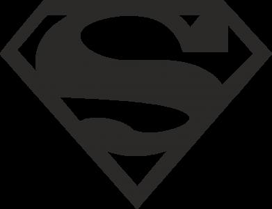 Принт Футболка с длинным рукавом Superman одноцветный - FatLine