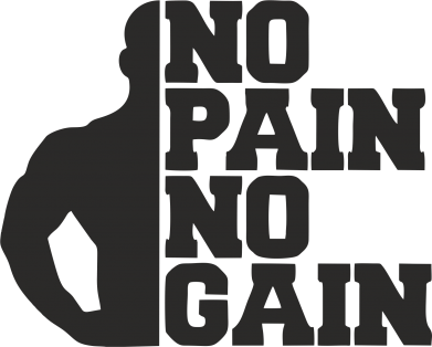 Принт Кружка 320ml No pain no gain sport - FatLine