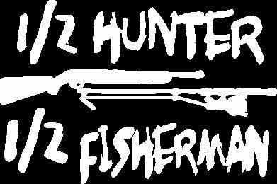 Принт Кепка Наполовину охотник, наполовину рыбак, Фото № 1 - FatLine
