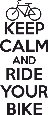 Принт Подушка KEEP CALM AND RIDE YOUR BIKE - FatLine