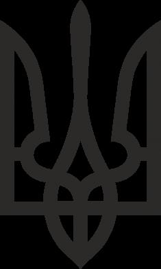 Принт Наклейка Класичний герб України - FatLine