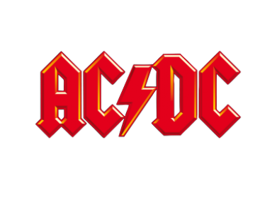 Принт Футболка Поло AC/DC Red Logo - FatLine