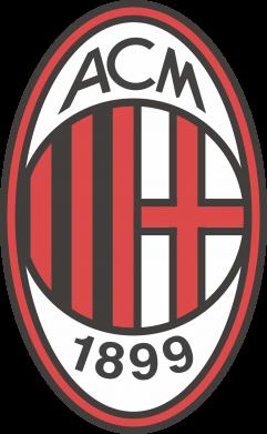 Принт Женская футболка с V-образным вырезом AC Milan - FatLine